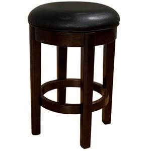 "AAmerica Parson Chairs 24"" Black Backless Swivel Barstool"