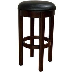 "AAmerica Parson Chairs 30"" Black Backless Swivel Barstool"
