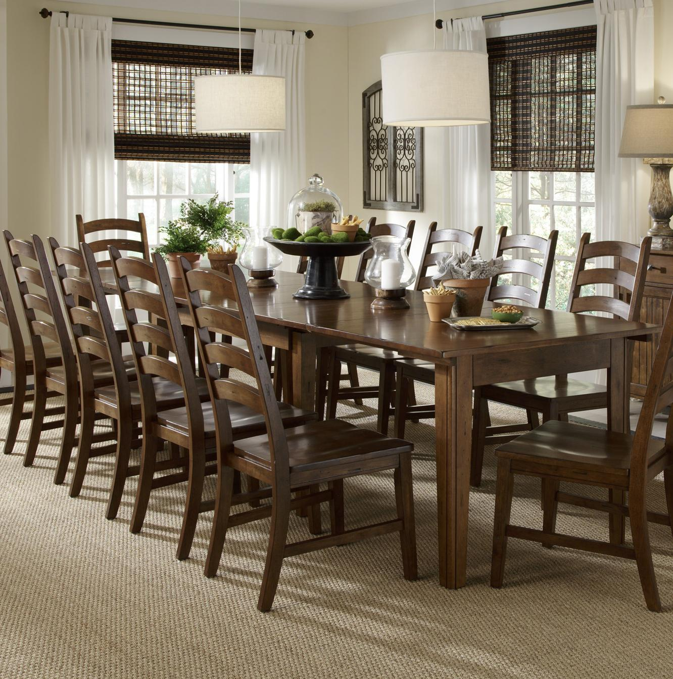 Solid Wood Leg Table With SelfStoring Leaves By AAmerica Wolf - Dining table with 3 leaves