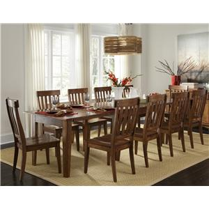 Vers A Table With 6 Slat Back Side Chairs