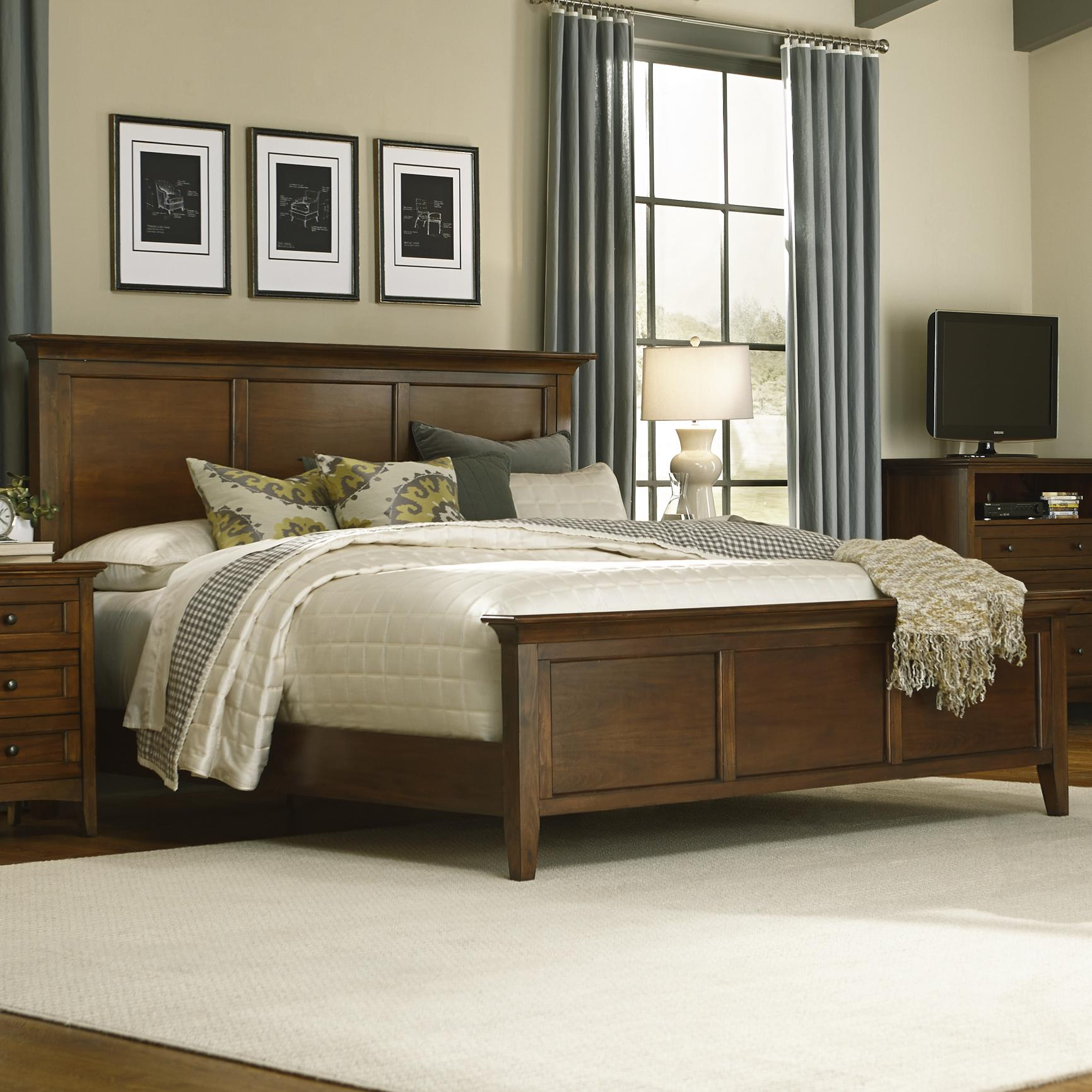 King Panel Bed By Aamerica Wolf Furniture