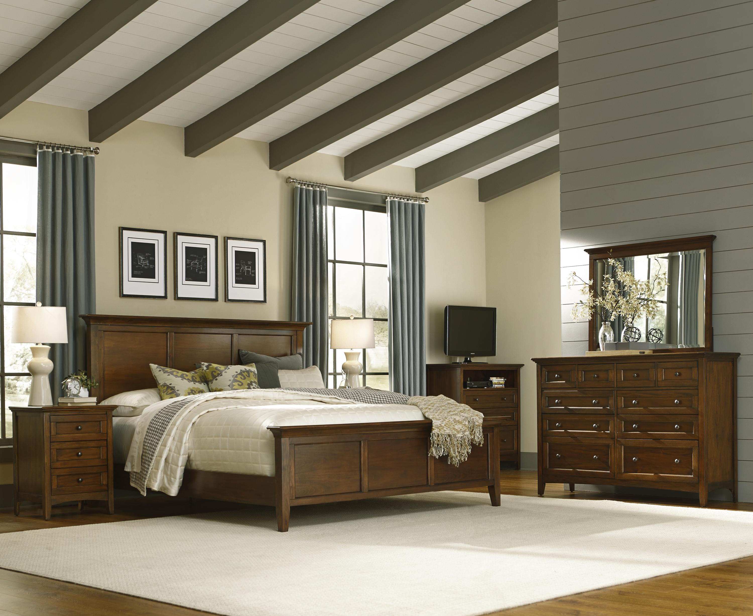 King Panel Bed By Aamerica Wolf And Gardiner Wolf Furniture