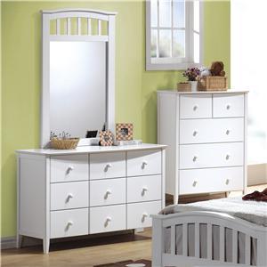 Acme Furniture San Marino Dresser & Mirror Combo