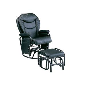 Acme Furniture Alberto Bk Pvc Recliner & Ottoman
