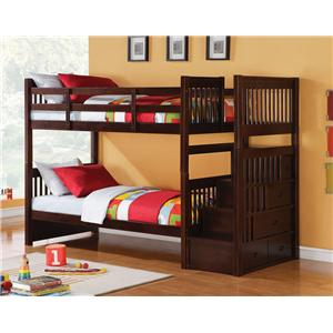 Acme Furniture Alem Twin Storage Bunkbed