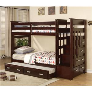 Acme Furniture Allentown Storage Bunkbed with Trundle