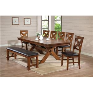 Acme Furniture Apollo Standard Height Dining Set