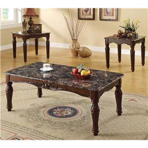 Acme Furniture Bart Faux M. 3-Piece Coffee/End Table Set