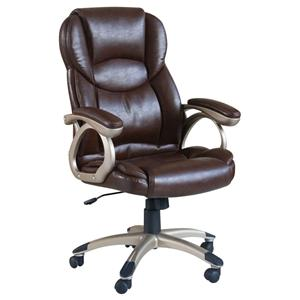 Acme Furniture Barton Brown Bycast Pu Office Chair W/Pneaumatic