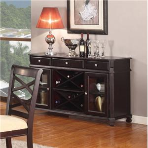 Acme Furniture Beale Server with Wine Rack