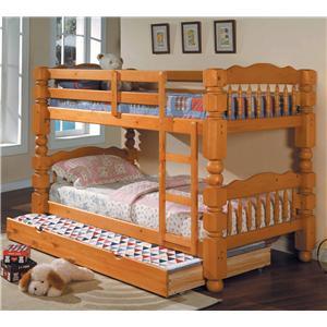 Acme Furniture Benji Twin Bunkbed w/ Trundle