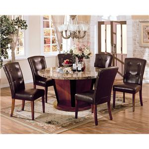"Acme Furniture Bologna 7 Pc 60"" Round Table and Chairs Set"