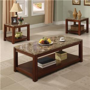 Acme Furniture Bologna 3 Pc Faux Marble Coffee/End Table Set
