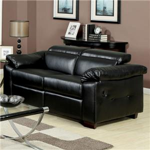 Acme Furniture Darcel Bonded Leather Motion Loveseat