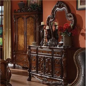 Acme Furniture Dresden Dresser and Mirror