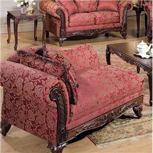 Acme Furniture Fairfax Magenta Chaise