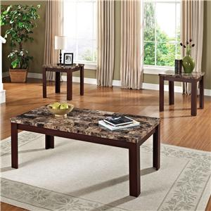 Acme Furniture Finely 3-Piece Coffee/End Table Set