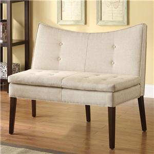 Acme Furniture Galen Beige Linen Accent Love Chair