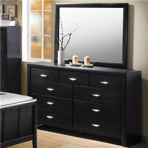 Acme Furniture Hailee Dresser and Mirror Combo