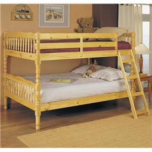 Acme Furniture Homestead  Natural Full Size Bunk Bed