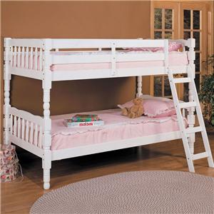 Acme Furniture Homestead  White Twin Size Bunkbed