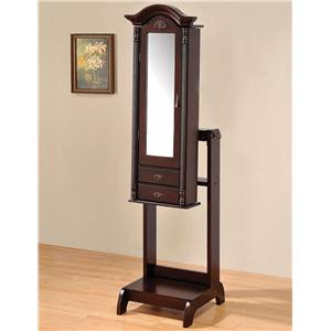 Acme Furniture Ibiza Cherry Jewelry Armoire
