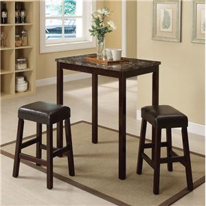 Acme Furniture Idris 3-Piece Counter Height Dining Set