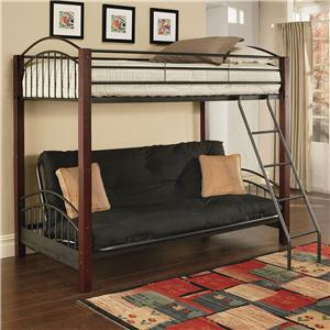 Acme Furniture Jenell Twin-Over-Futon Bunkbed