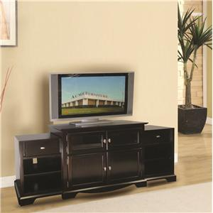 Acme Furniture Lamesha Tv Stand W/Built-In Side Cabinets