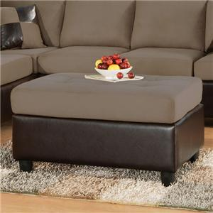 Acme Furniture Lisbon  Saddle Ottoman