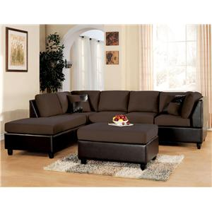 Acme Furniture Lisbon Chocolate 2 Piece Sectional Sofa