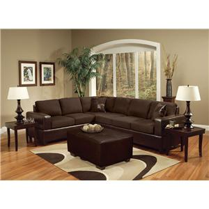 Acme Furniture Madrid Sectional Sofa W/Accent Pillows