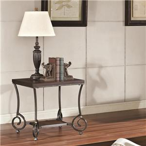 Acme Furniture Maxson End Table with Metal Legs