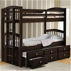 Acme Furniture Micah Twin Bunk Bed W/ Trundle and Drawer Storage