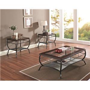 Acme Furniture Nansen 3-Piece Coffee/End Table Set