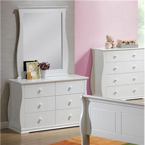 Acme Furniture Nebo Dresser and Mirror Combo