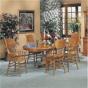 Acme Furniture Nostalgia 7-Piece Dining Table and Chair Set