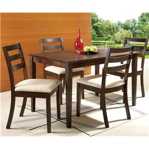 Acme Furniture Tacoma 5 Pc Rectangular Table and Chairs Set