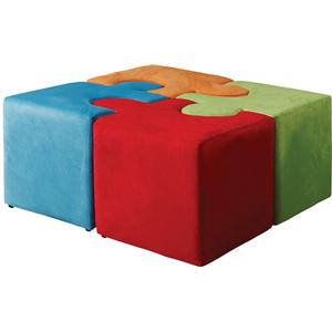 Acme Furniture Vala Multicolor Youth Ottomans