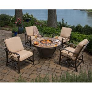 Morris Home Furnishings Avata Avata 5-Piece Outdoor Fire Pit Set