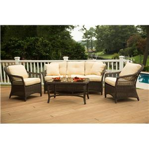 Morris Home Furnishings Carribbean Caribbean 4-Piece Outdoor Set