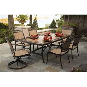 Morris Home Furnishings Montego Montego 7-Piece Outdoor Dining Set