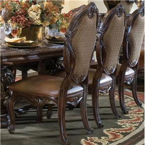 Michael Amini Essex Manor Side Chair w/ Leather Seat