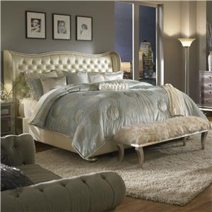Michael Amini Hollywood Swank King Upholstered Bed