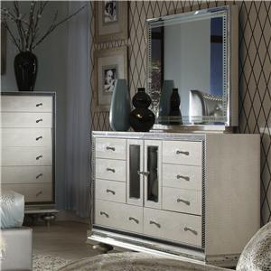 Upholstered Dresser And Mirror