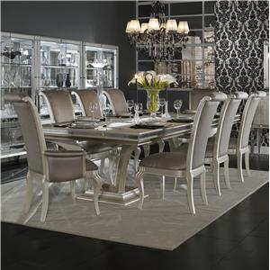 Michael Amini Hollywood Swank 9 Piece Dining Set