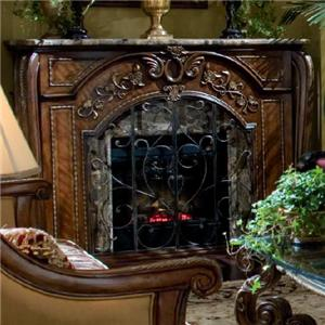 Michael Amini Oppulente Fireplace