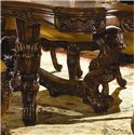 Michael Amini Palais Royale Rectangular Dining Table with Ornate Hand-Carved Accents - Ornate Hand-Carved Details are Showcased on the Legs and Table Apron