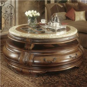 Michael Amini Tuscano Round Cocktail Table
