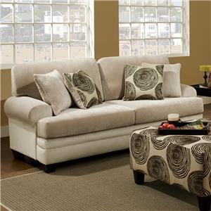 Albany 8642 Transitional Stationary Sofa